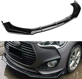 MotorFansClub 3pcs Front Bumper Lip for for Hyundai Veloster 2013-2017 Splitter Trim Protection Spoiler, Black