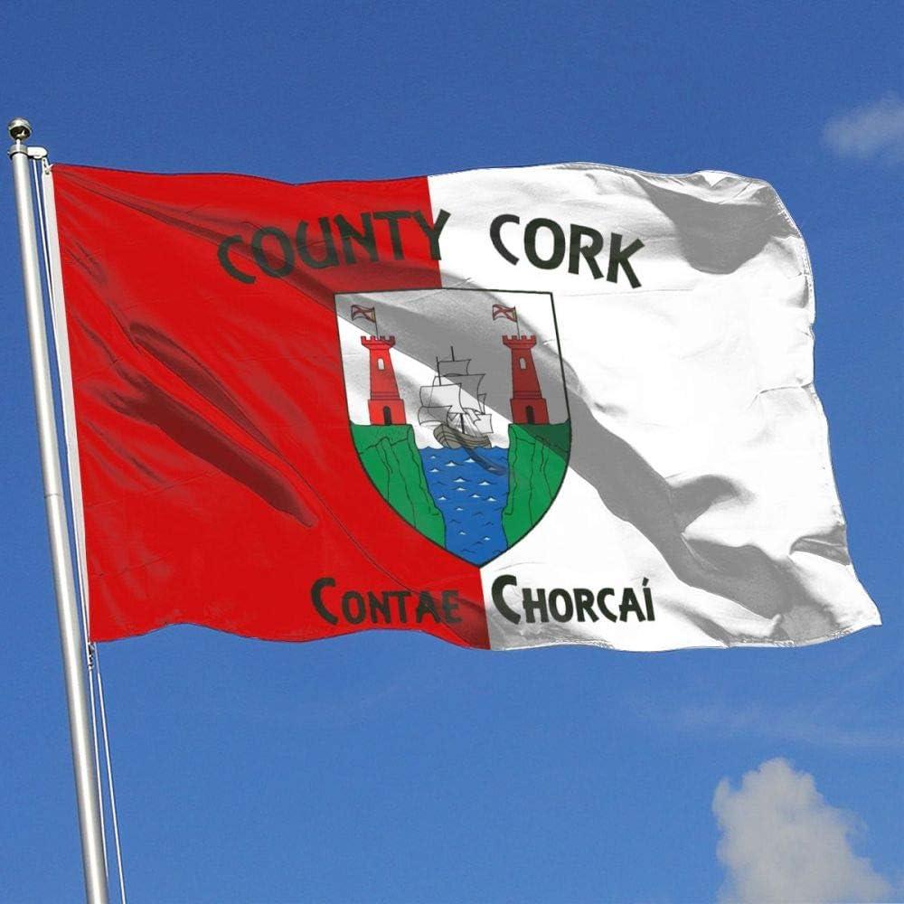 Jyiu Cork Ireland County Flaghouse Flag Garden Flag Yard Banner Garden Flag 3 X 5 Garden Outdoor