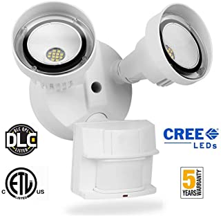 20W LED Security Light Motion Sensor Outdoor,LEDMEI CREE LED 5000K Daylight 2200LM 250W Equivalent IP65 Waterproof Outdoor Motion Sensor Adjustable Flood Light for Entryway Stairs Yard Garage