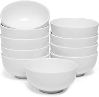 amHomel Small Soup and cereal Bowls-Set of 10,Durable Porcelain Bowls for Side Dishes ,Dessert, Ice Cream, Rice, 4.5 Inch ...