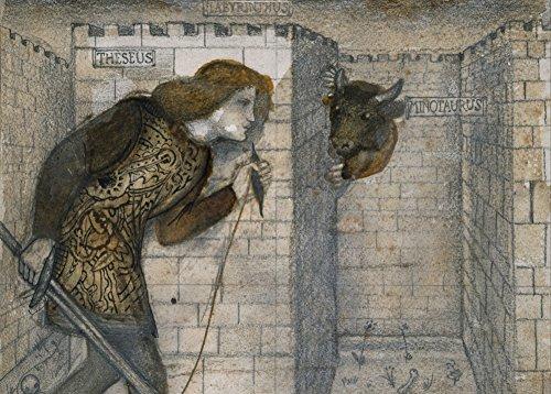 Edward burne-jones Theseus und der Minotaurus in das Labyrinth C1861250gsm, Hochglanz, A3, vervielfältigtes Poster