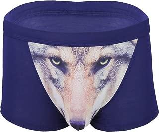 YiZYiF Mens 3D Wolf Owl Eagle Bulge Pouch Boxer Briefs Underwear Animal Print Shorts Pants
