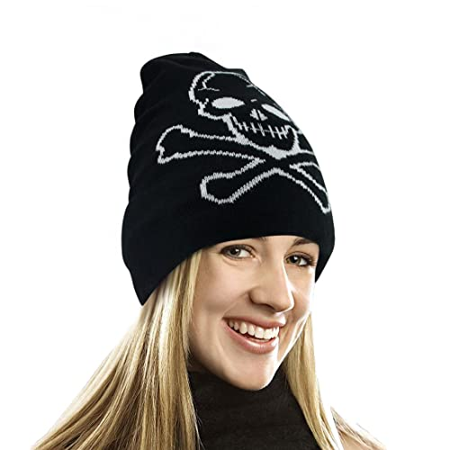 0e511ddf4 EZGO Skull Printed Winter Beanie Hat - Pirate Knit Cap Skull Cap Skullies  Beanie