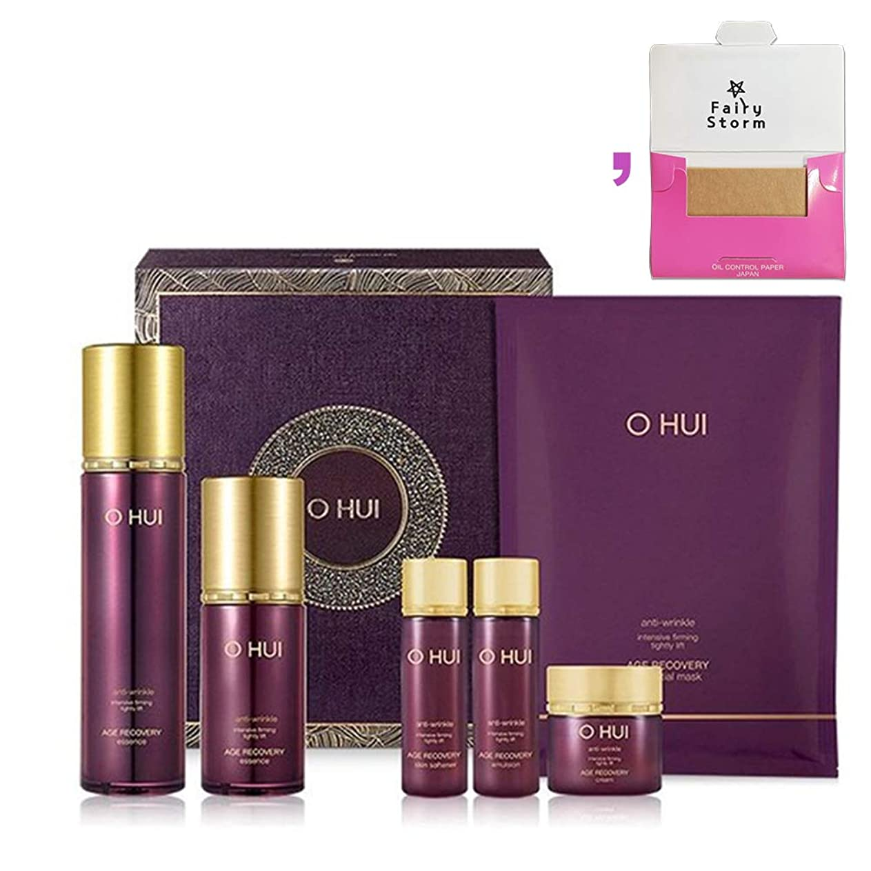 潜在的な法令インサート[オフィ/ O HUI]韓国化粧品 LG生活健康/ Ohui AGE RECOVERY ESSENCE Special Set /オフィ エイジ リカバリー エッセンス45ml 限定セット +[Sample Gift](海外直送品)