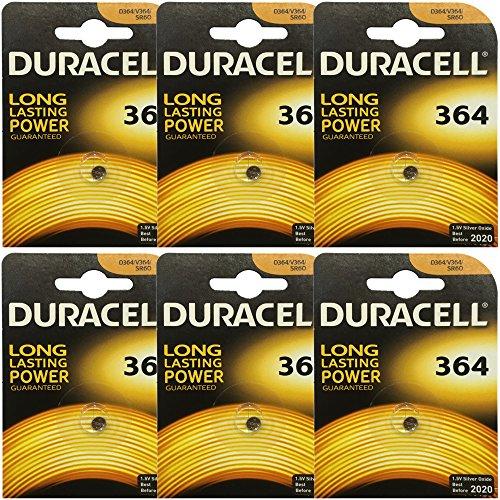 6x Duracell 364 1.5v Silver...