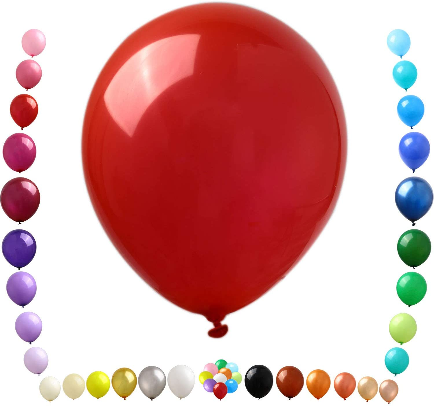 Party Ulyja Red Balloons Max 90% OFF Kids' 50 Pack 12 Shiny Inch Bulk Max 44% OFF