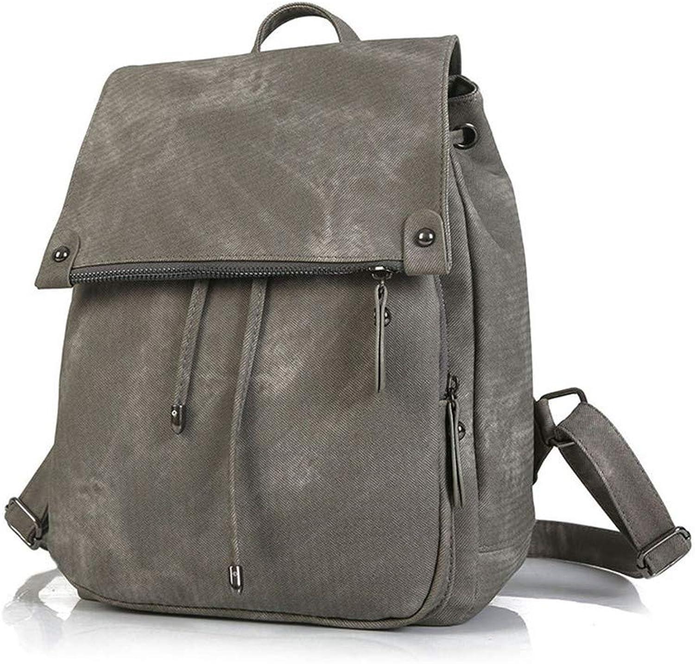 Frauen PU Rucksack Handtaschen Damen Daypacks Mdchen Schule Reisetasche für Mnner Frauen, Arbeit (Farbe   Grau)