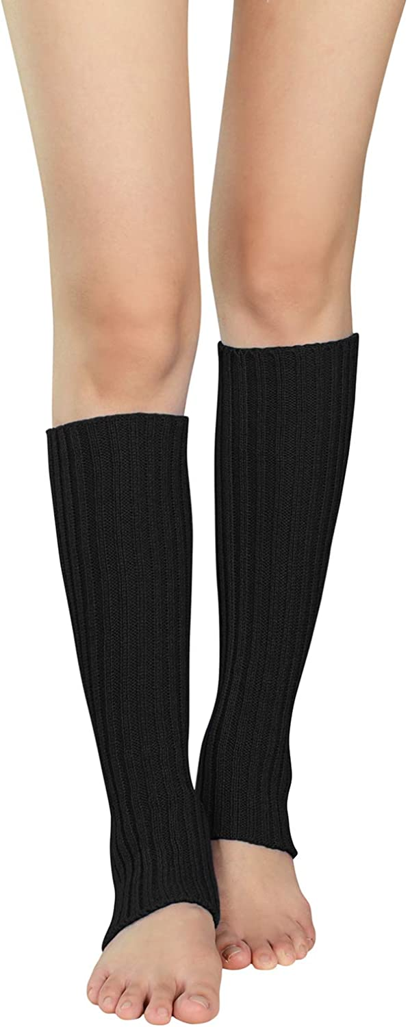 Zando Womens Fashion Leg Warmers Adult Junior 80s Ribbed Knitted Long Socks for Party Sports Casual Socks