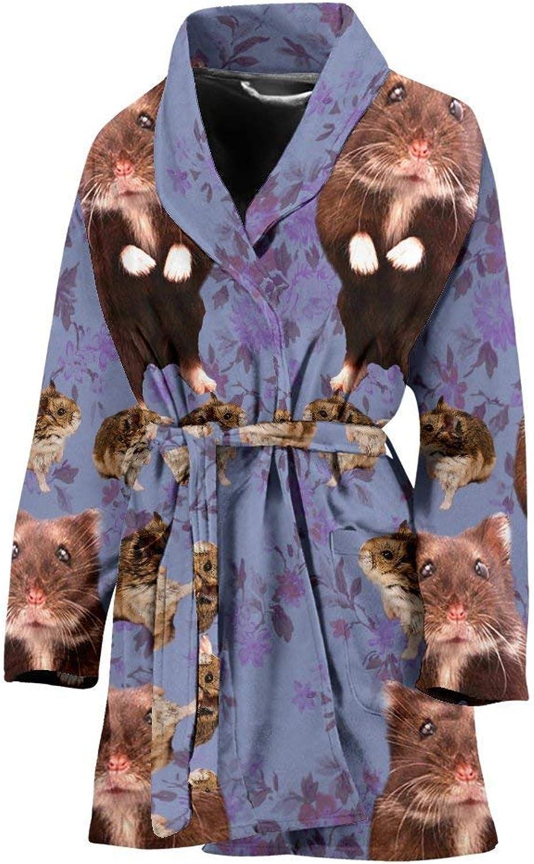 Deruj Djungarian Hamster (Siberian Hamster) Print Women's Bath Robe