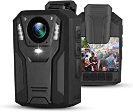 BOBLOV 1296P Body Mounted Camera Recording Wearable Video Recorder Manually Night Vision for Law Enforcement (Built-in 64G)