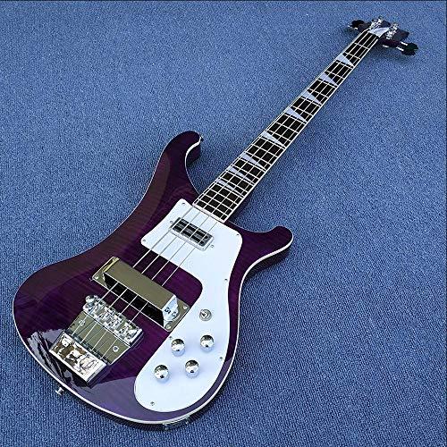 YYYSHOPP Guitars & Gear - Guitarra eléctrica de 4 cuerdas, color morado...