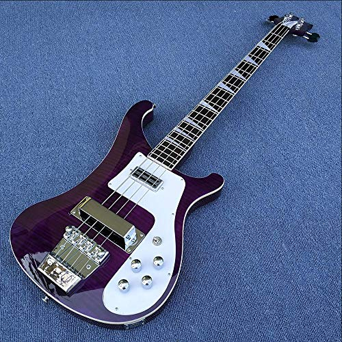 MLKJSYBA Guitarra Guitarra Eléctrica 4 String Bass Guitar Pintura Púrpura con La Guitarra Clásica Superior De Arce Guitarras acústicas (Color : Guitar, Size : 43 Inches)