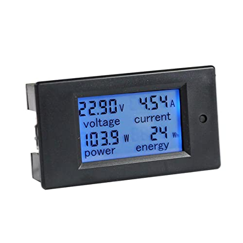 Blue GERI Volt Amp Voltmeter Ammeter 2in1 LED Digital Voltage Current Measurement Meter DC 5V 12V 4.5-30V//100A with Shunt Red