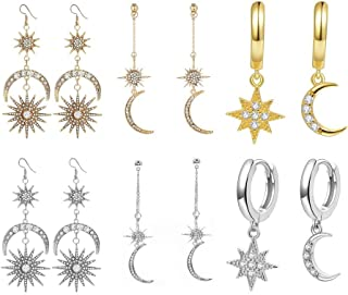Damas Mujeres Pájaro De Oro Rosa de plata estrella montante de moda pendientes de Reino Unido