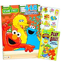 Sesame Street Elmo Colouring Book Jumbo 400 Pages -- Featuring Elmo, Cookie Monster, Big Bird and More