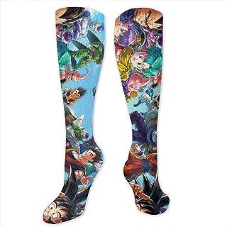 Calcetines largos Mujer Hombre Dragon Ball Crew Calcetines Sobre la pantorrilla Calcetines Calcetines de vestir divertidos
