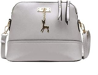 Niome Color Block Crossbody Bags Women Elegant PU Leather Shoulder Bag Deer Toy Pendant Messenger Bag Snakeskin-pattern Handbag