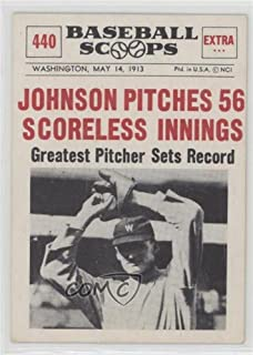 Walter Johnson (Baseball Card) 1961 Nu-Cards Baseball Scoops - [Base] #440