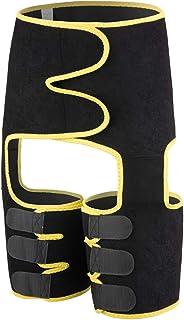 QWET Lårsmalare för kvinnor för viktminskning, hög midja stöd 3-i-1 midjetrimmer träningsbälte, cincher buttre lyftare for...