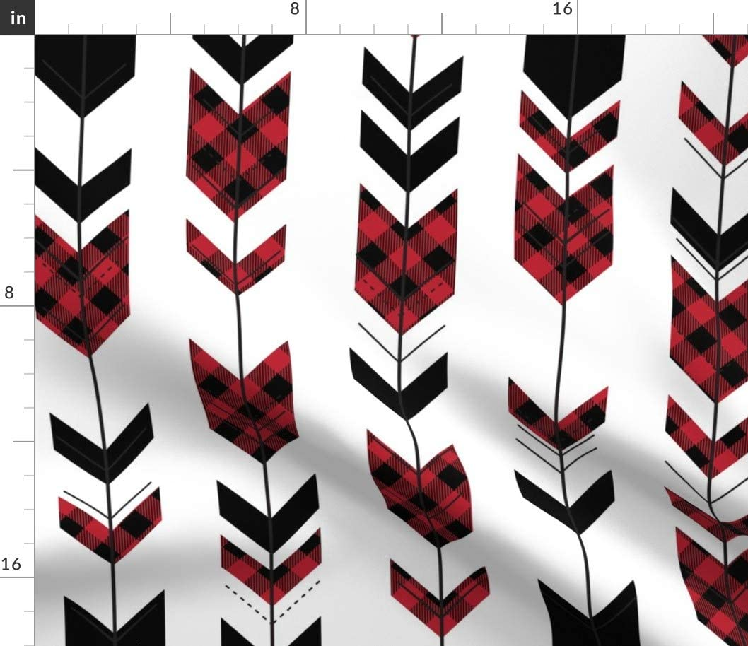 Spoonflower Over item handling Fabric - Fletching Arrows Camper Plaid Colle Buffalo Brand Cheap Sale Venue