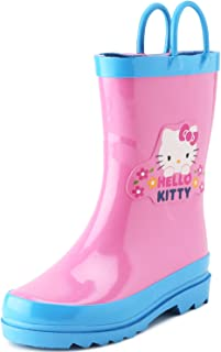 Kids Girls' Hello Kitty Character Printed Waterproof Easy-On Rubber Rain Boots (Toddler/Little Kids)