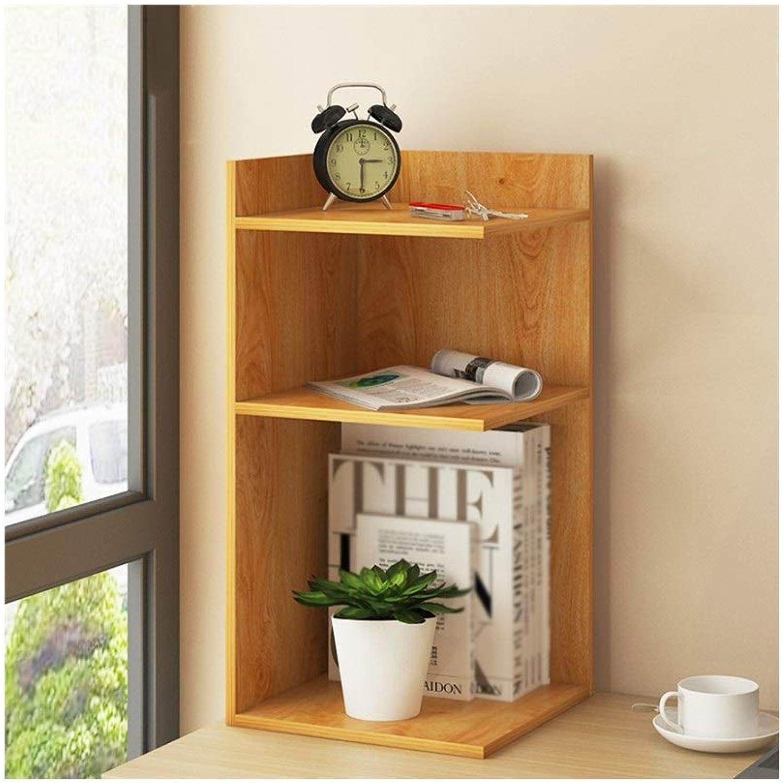 LQQGXLoffice Furniture Desk Shelf, Simple Combination Solid Wood Shelf Office Bookcase (Size   30  30  60cm)