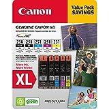 Canon PGI-250XL, CLI-251XL C/M/Y/K Ink Cartridges Value...