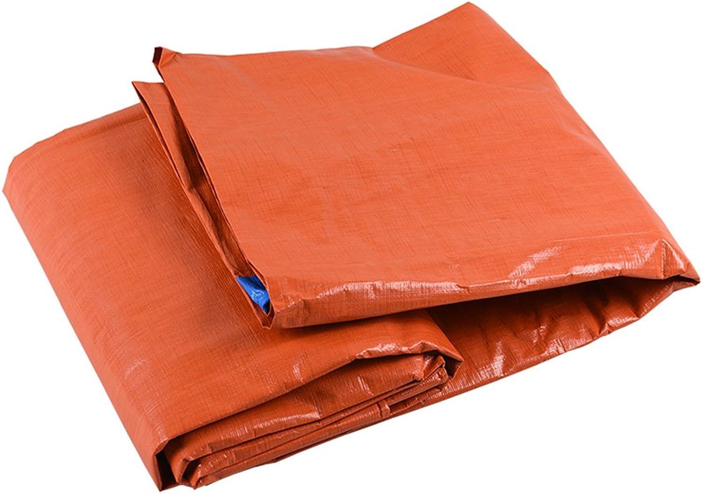 ZHANWEI Tarpaulin Waterproof Tent Tarp Thicken Awning Rainproof Sunscreen Shade Linoleum Polyethylene Truck Car, orange + blueee (color   orange, Size   3x4M)