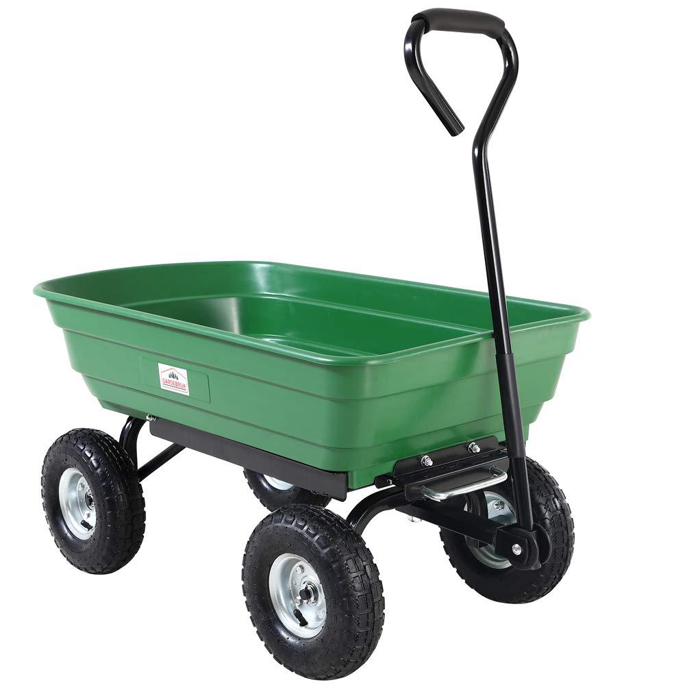 Deuba Carretilla de jardín con función de inclinación y Eje de dirección Carga máx de 300 kg Carrito de Transporte Verde: Amazon.es: Jardín
