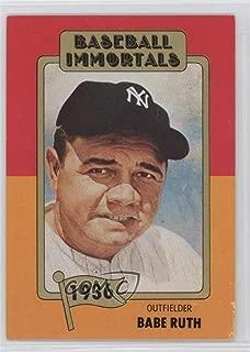 Babe Ruth (Baseball Card) 1980-87 SSPC Baseball Immortals - [Base] - 1st Printing #1.1