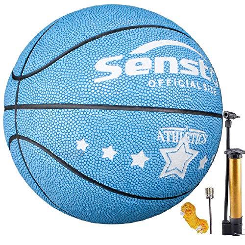 Senston Basketball Kinder Größe5 Anfänger Fluoreszenz Training Basketbälle gr 5