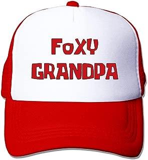 Foxy Grandpa Unisex Mesh Truck Hats Baseball Caps Outdoor Sports Adult Red