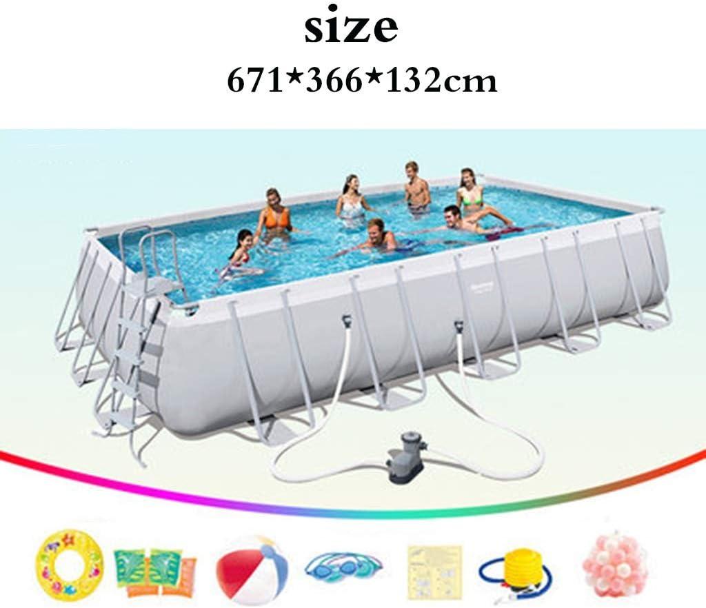 Piscinas Párese Adulto casa Infantil Estanque de Peces Exterior Gran Infantil Grande (Color : Blanco, Size : 671 * 366 * 132cm)