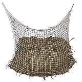 TONGXU Slow Feed Hay Net for Horses Bag of Mesh Horse Woven Slow Feeder Horses Net White (120x90cm)