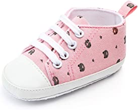 Baby Boys Girls Canvas Shoes Soft Sole Infant Casual Sneakers Lace Up Toddler First Walkers