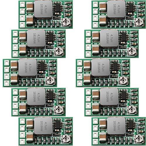 10 Módulo de regulador de 5V Mini Convertidor de reductor de Voltaje de DC 4,5 - 24V 12V 24V a 5V 3A Regulador de voltaje DC a DC Módulo de Transformador de Fuente de Alimentación