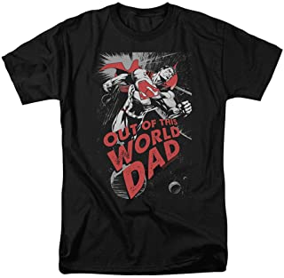 Popfunk Superman Out of This World Dad T Shirt for Father's Day & Stickers