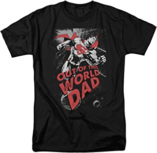 Popfunk Superman Out of This World Dad T Shirt for Father's & Stickers
