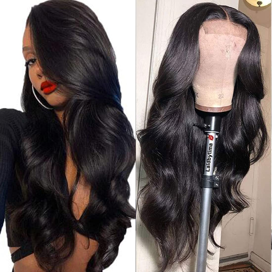 BLACKMOON HAIR 4x4 Frontal Max 53% OFF It is very popular Lace Wig Deep Human Wave Wa Body Hair