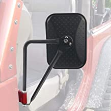 Square Door Off Quick Release Side Rear View 8.6 inch Mirror for 2007-2018 Jeep Wrangler JK JKU CL JLU - Pack of 2