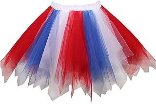 Women's Vintage 1950s Tutu Multicolor Petticoat Ballet Bubble Dance Skirt