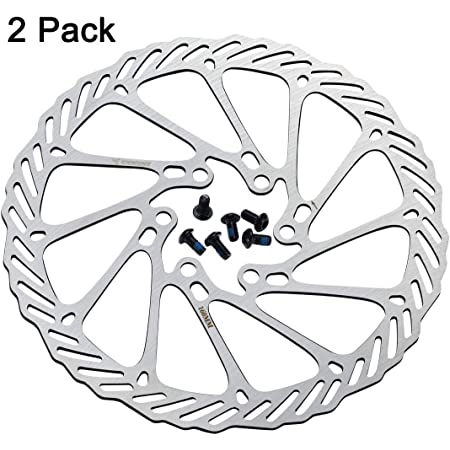 SUODAO Discs Bicycle Brake,Stainless Steel 6 Bolts for Bicycle MTB BMX Parts Bike Accessories Floating Rotor Disc Brake