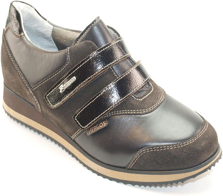 Sabatini Calzature Hergos H 8104dunkelbraunem Nappaflex–Schuh bequem für Hallux Valgus, echtes Leder–Rabatt letzten Zahlen
