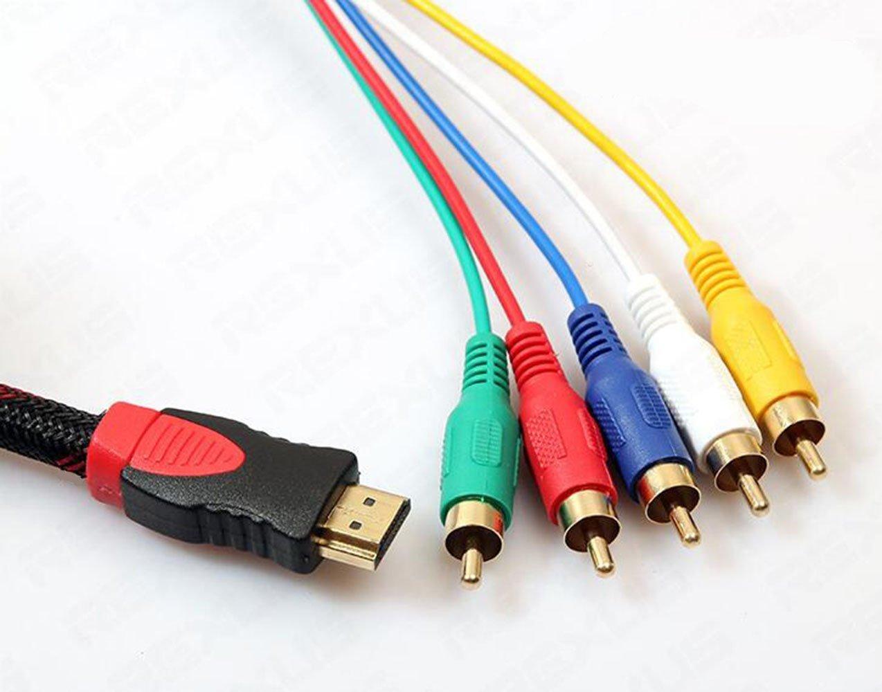 Cable HDMI a RCA, 1,5 m, convertidor Cale/para HDTV, DVD, y la mayoría de los proyectores LCD, de Kouelt: Amazon.es: Electrónica