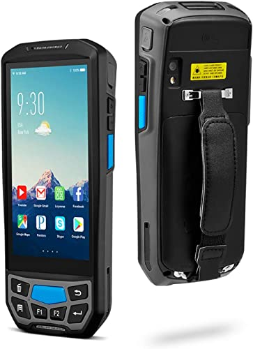MUNBYN Android 8.1 Barcode Scanner with 2D Honeywell Reader for 1D 2D QR PDF417, 3G 4G Rugged Handheld, 5'' Touch Scr...