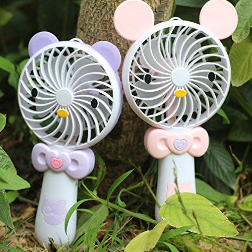 Ventilador de Mano Pequeño Conejo USB Cargador de Escritorio de los Niños de la luz de Mano, Mickey Mouse