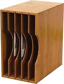 Home Equipment Rack de almacenamiento de discos LP Caja de almacenamiento de discos de vinilo con subformato de madera hor...