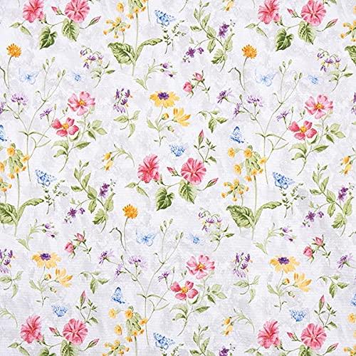 Dekostoff Canvas Wiesenblumen — Meterware ab 0,5m — STANDARD 100 by OEKO-TEX® Produktklasse II — zum Nähen von Sitzgelegenheit, Gardinen & Kissen/Tagesdecken