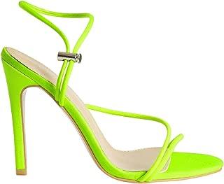 Women's Fashion Strappy High Heel Sandals - Pointy Open Toe Ankle Strap Stilettos