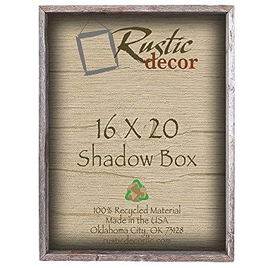 16x20 3  Deep Reclaimed Rustic Barnwood Collectible Shadow Box